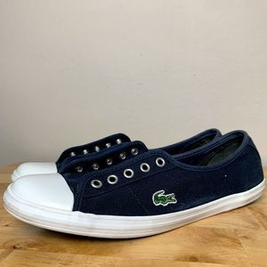 Lacoste Ziane Blue Sneakers with White Capped Toes